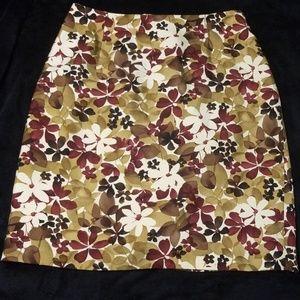 Ann Taylor 100% silk Pencil Skirt